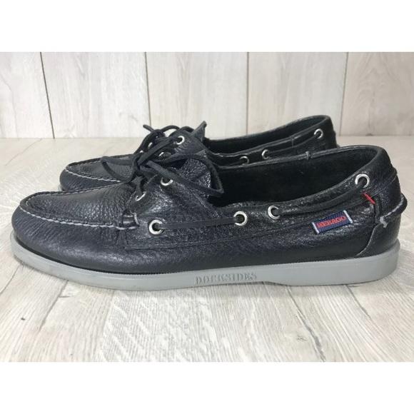 Sebago Men's Docksides Boat Shoe, Black, 10M